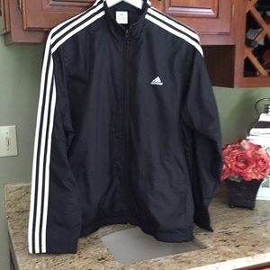 Adidas jacket with zipper and pockets